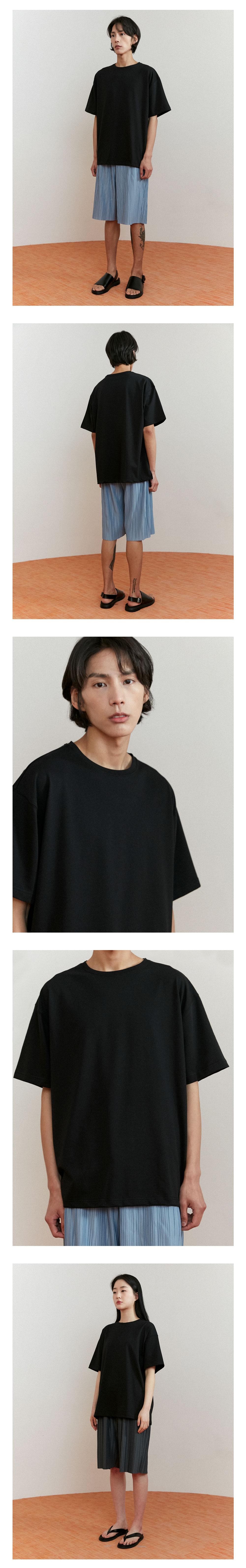 에노우(ENOU) 오버사이즈 티셔츠_블랙(EN2AMMT500A)