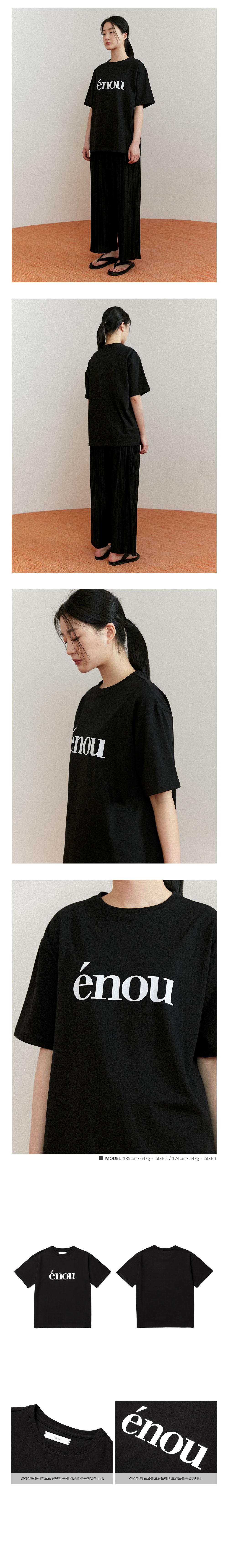 에노우(ENOU) 로고 티셔츠_블랙(EN2AMMT502A)