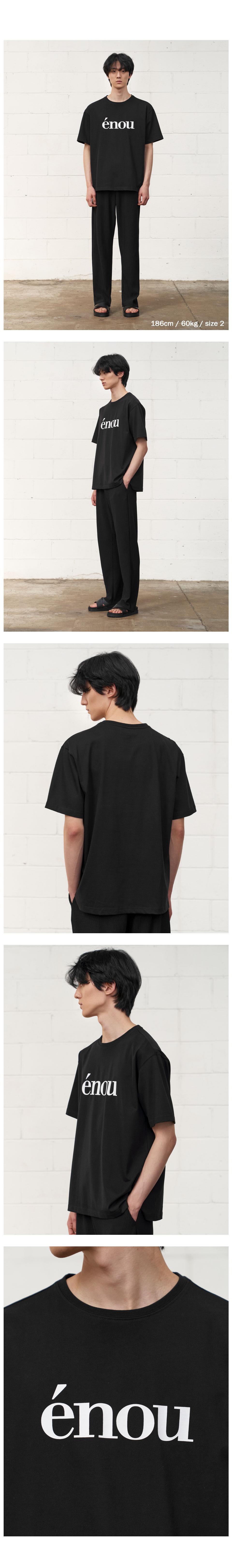 에노우(ENOU) 로고 티셔츠_블랙(EN2BMMT502A)